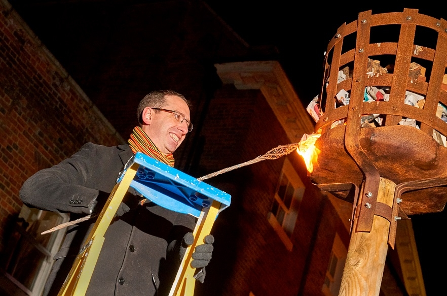 Beacon Is Lit To Mark The Start Of Hertfordshire Year Of Culture In Watford